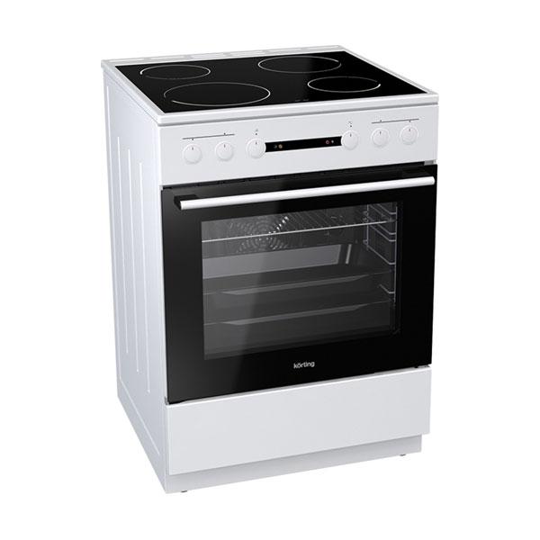 Korting Κουζίνα 71lt με Εστίες Κεραμικές KEC 6151 WPG