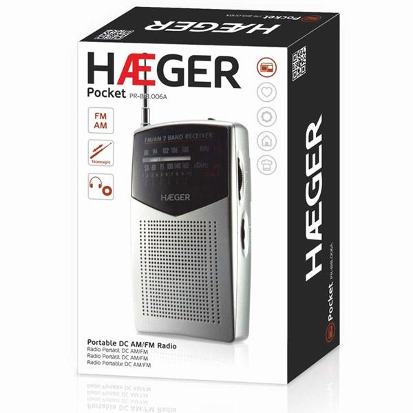 Φορητό ραδιόφωνο HAEGER POCKET PR-BIB.006A