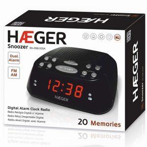 Ψηφιακό Ξυπνητήρι Ραδιόφωνο HAEGER SNOOZE RA-06B.005B