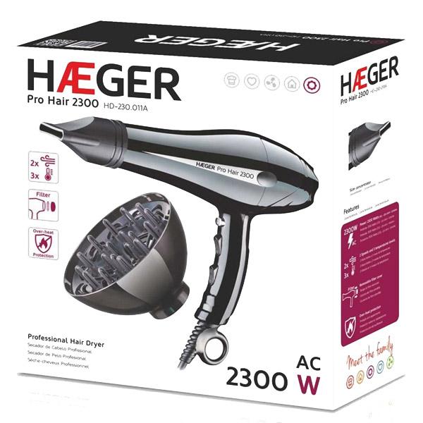 Πιστολάκι μαλλιών HAEGER PRO HAIR 2300W HD-230.011B